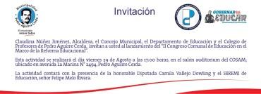 II CONGRESO EDUCACIÓN EN PEDRO AGUIRRE CERDA