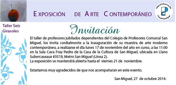 EXPOSICIÓN DE ARTE CONTEMPORÁNEO, PROFESORES JUBILADOS DE SAN MIGUEL