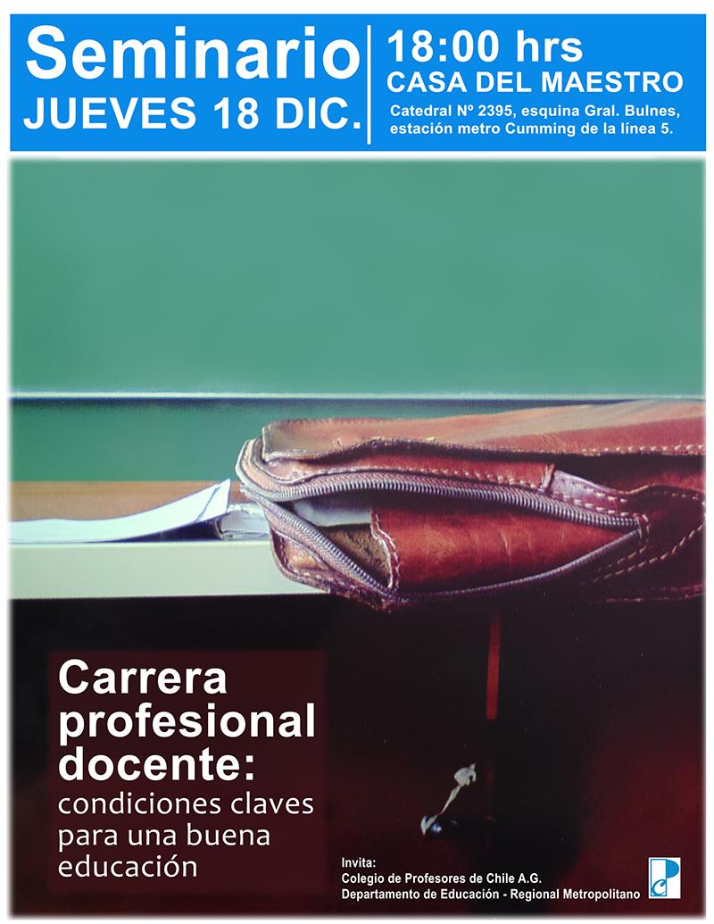 SEMINARIO CARRERA PROFESIONAL DOCENTE