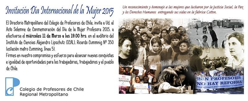 Invitación Día Internacional de la Mujer 2015