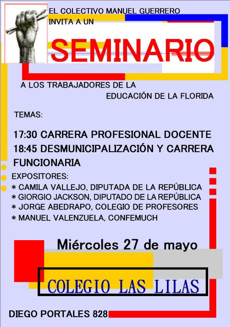 SEMINARIO CARRERA DOCENTE Y DESMUNICIPALIZACIÓN EN LA FLORIDA