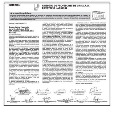 INSERTO DIARIO COMUNICADO PARO NACIONAL DOCENTE