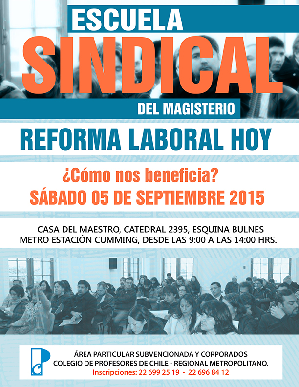 INVITACIÓN ESCUELA  SINDICAL  DEL MAGISTERIO