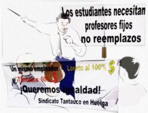 PROFESORES Y FUNCIONARIOS COLEGIO TANTAUCO EL BOSQUE DEPENDENDIENTE DE LA FACH EN HUELGA LEGAL
