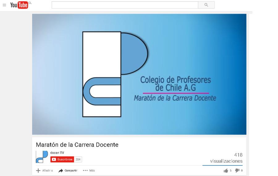 COLEGIO DE PROFESORES LANZÓ VIDEO SOBRE LA CARRERA DOCENTE