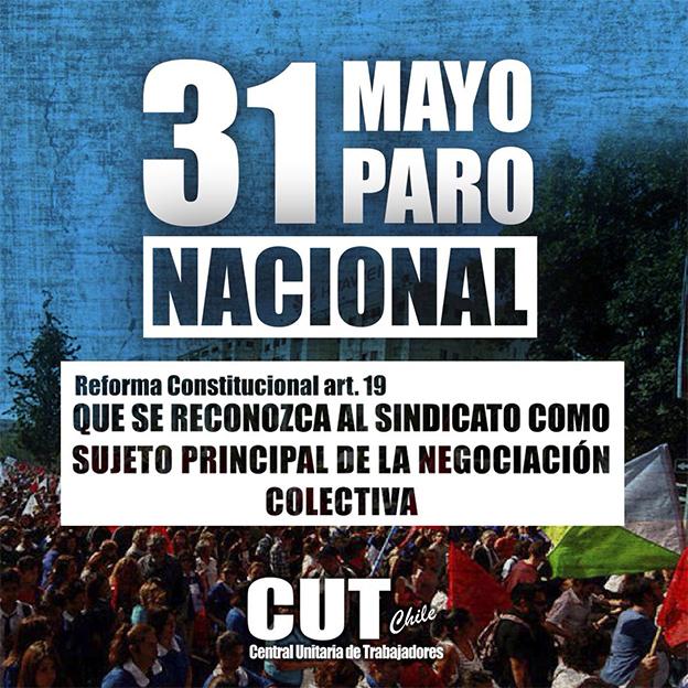 CONVOCATORIA A PARO NACIONAL C.U.T. MARTES 31 DE MAYO DE 2016