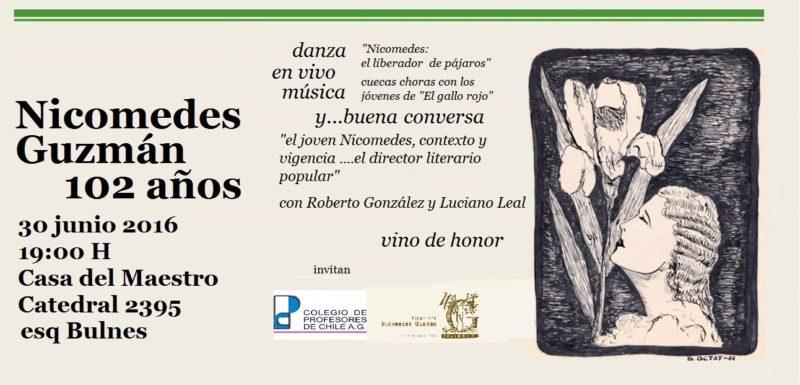 CONMEMORACIÓN DEL 102 ANIVERSARIO DEL NACIMIENTO DE NICOMEDES GUZMÁN