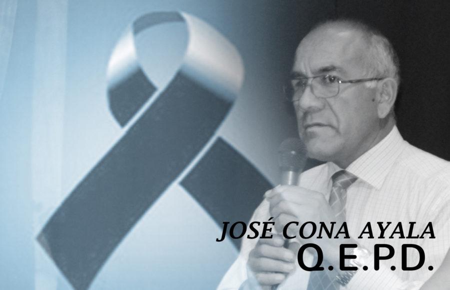 SE COMUNICA EL SENSIBLE FALLECIMIENTO DEL PROFESOR JOSÉ CONA AYALA