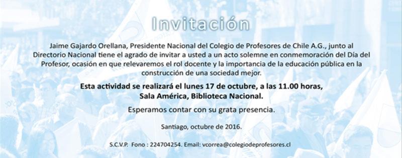ACTO DE CONMEMORACIÓN DÍA DEL PROFESOR 2016