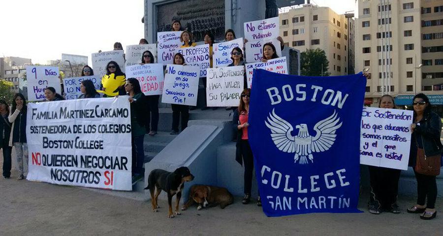 Huelga en Boston College de Maipú: 1700 estudiantes sin clases por intransigencia de sostenedores