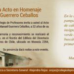 Nattino, Guerrero y Parada: Acto oficial conmemorativo