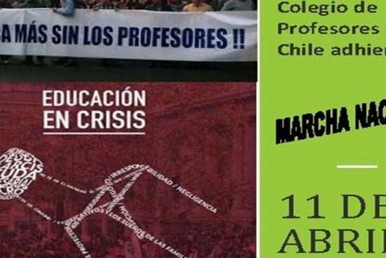 Los profesores marchamos por la Educación este martes en todo Chile
