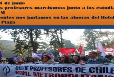 Regional Metropolitano llama a marchar en Santiago para Movilización Nacional del 1 de junio