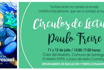 """""""Círculos de Lectura 'Paulo Freire'"""": Una experiencia de diálogo pedagógico"""
