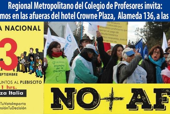 Profesores del Regional Metropolitano marcharán contra las AFP
