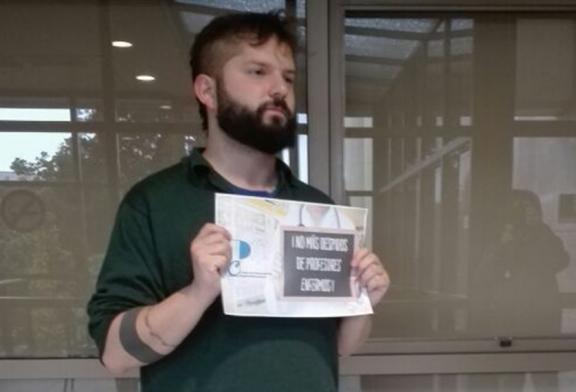 Diputado autonomista Gabriel Boric adhiere a campaña contra ley que permite despido de profesores por enfermedad
