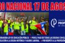 Plan de acción centrado en el Paro Nacional docente del 17 de agosto