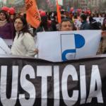 Profesores presentes en marcha por los DDHH de niños y niñas del Sename
