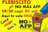 COMUNICADO PLEBISCITO No + AFP