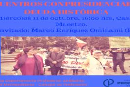 Docentes afectados por Deuda Histórica inician encuentros con presidenciables: inicia Marco Enríquez Ominami