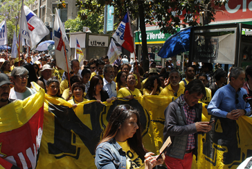 Cientos se concentraron en Plaza de Armas durante jornada de protesta contra las AFP