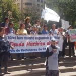 Llamativa marcha de profesores jubilados por el centro de la capital exige pago de Deuda Histórica
