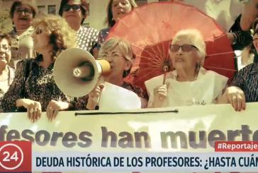 TVN transmite reportaje a profesores afectados por la Deuda Histórica y la lucha por su reparación