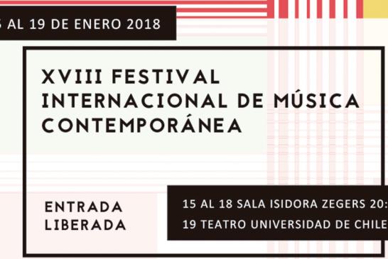 CONVENIOS: Más de cien músicos en el XVIII Festival Internacional de Música Contemporánea de la Universidad de Chile