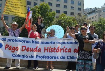 Departamento de Jubilados del Regional Metropolitano apoya primera manifestación del año por deuda histórica