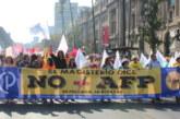 Regional Metropolitano presente en Marcha No+AFP