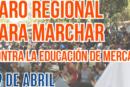 Paro Regional para marchar este jueves por la Educación Pública y contra el lucro
