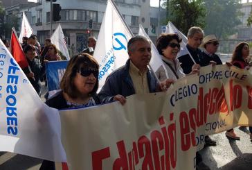 Colegio de Profesores participa en actividades del 1ro de mayo