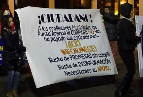 Solidaridad con docentes de Punta Arenas en su sexta semana de Paro y movilización