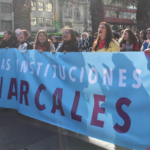 Profesorado presente en masiva marcha feminista