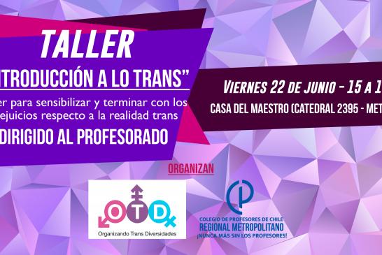 Taller sobre realidad Trans y procesos educativos