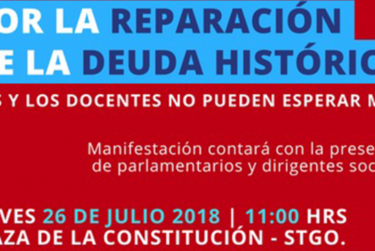 Convocatoria a manifestación por reparación a Deuda Histórica