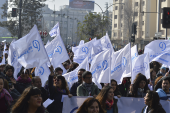 Paro Nacional Docente convoca a más de 30 mil personas en el centro de Santiago