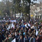 Balance: 55 mil profesores en las calles y adhesión del 75% al paro nacional