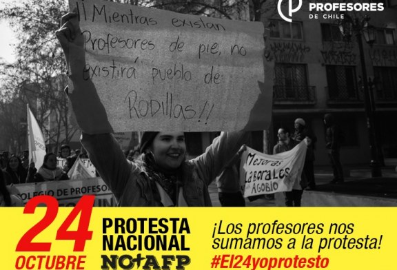 Llamado a sumarse este 24 de octubre a la Jornada Nacional de Protesta NO+AFP