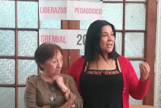 Exposición de dirigenta Clotilde Soto sobre perfil del líder gremial en Escuela de Formación