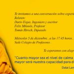 Educación y espiritualidad: conversación sobre encuentro con el Dalai Lama