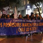 Con acto en Plaza de Armas culminó Protesta Nacional Docente en Santiago