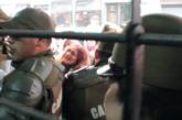 Brutal represión contra docentes y funcionarios del gremio en Seremi
