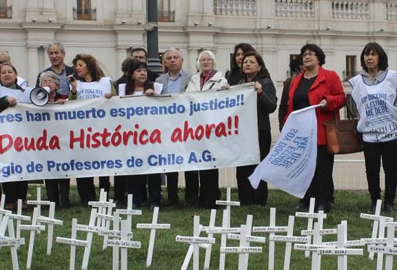 Frente a La Moneda se conmemoró el Día Nacional de la Deuda Histórica