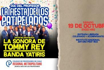 Fiesta por el Día del Profesor y la Profesora incluye presencia de Sonora Tommy Rey