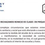 ALCALDE DE PIRQUE NO ESCUCHA A  COMUNIDADES ESCOLARES