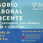 """Conversatorio: """"Agobio Laboral Docente"""" Jueves 29 a las 20:30 hrs."""