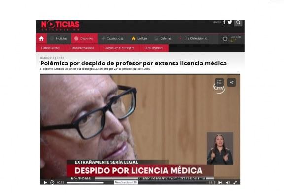 Denuncias de profesores despedidos de Lo Espejo logra presencia en TV