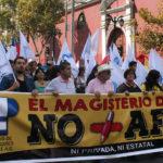 """Masiva participación de profesores en marcha """"No + AFP"""""""