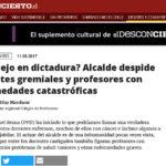 Columna-Denuncia de Presidente Metropolitano es difundida en prensa digital